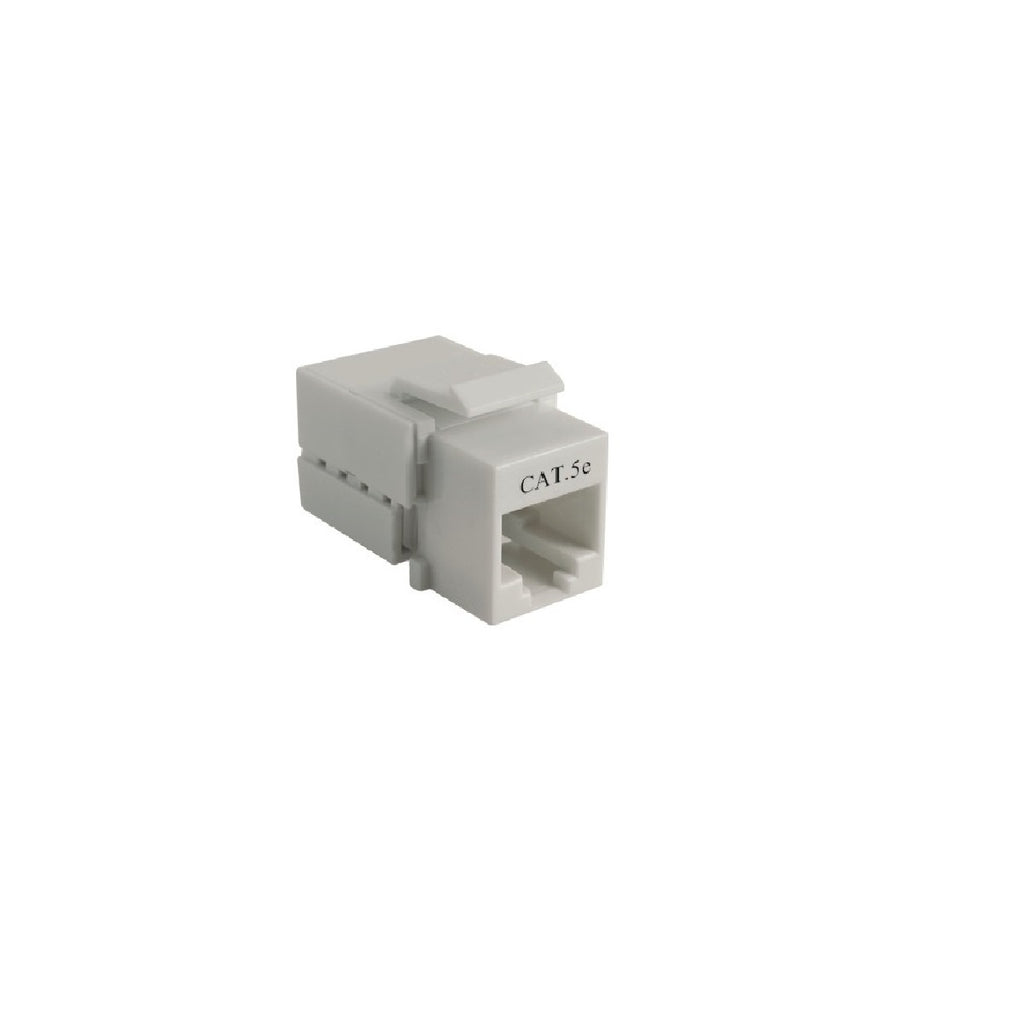 Cat5e 90° Unshielded Tooless Keystone Jack 110 Type IDC, Ivory