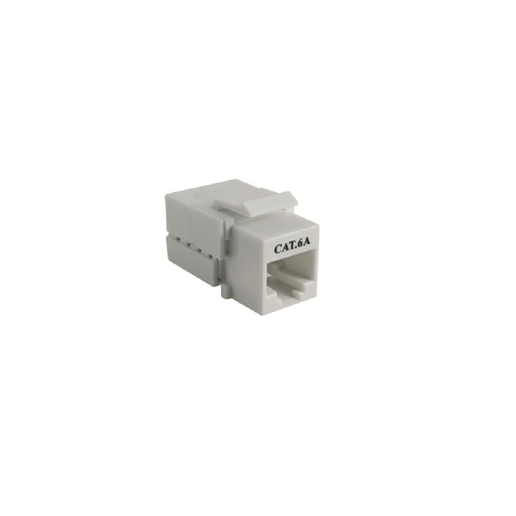 Cat6A 90° Unshielded Keystone Jack, 8 position, 110 Type IDC, White