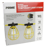 100ft 12/3 STW 10-Bulb <br />Twist-to-Lock Light String