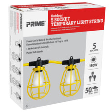 50ft 12/3 SJTW 5-Bulb <br />Light String