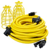 50ft 12/3 STW 5-Bulb <br />Light String w/Metal Cages
