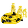 100ft 12/3 STW 10-Bulb <br />Light String w/Metal Cages