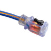 100ft 10/3 SJEOW <br />Arctic Blue™ All-Weather <br />Locking Extension Cord