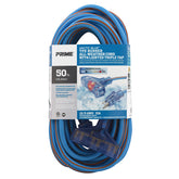 50ft 12/3 SJEOW <br />Arctic Blue™ All-Weather <br />3-Outlet Extension Cord