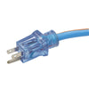 25ft 12/3 SJEOW <br />Arctic Blue™ All-Weather <br />3-Outlet Extension Cord