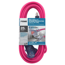 25ft 12/3 SJTW -50°C <br />Neon Flex® High Visibility <br />3-Outlet Extension Cord