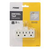 3-Outlet Swivel Power Tap