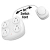 4-Outlet White Indoor Power Tap w/ Remote Switch
