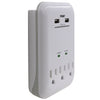 3-Outlet 950 Joule Surge Tap <br />w/2-Port 3.4A USB Charger