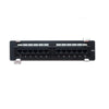 Cat5e 180° Unshielded Wall Mounted Patch Panel 12 ports, Black