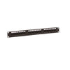 Cat5e 180° Unshielded Patch Panel, 110 Type IDC, 24 ports, Black
