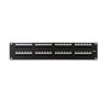 Cat5e 180° Unshielded Patch Panel, 110 Type IDC, 48 ports, Black