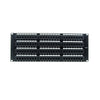 Cat5e 180° Unshielded Patch Panel, 110 Type IDC, 96 ports, Black