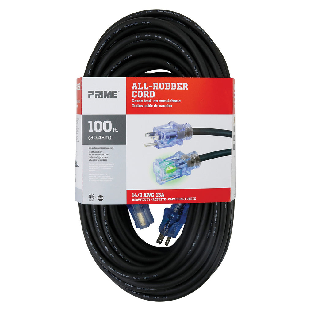 100ft 14/3 SJOOW All-Rubber™ Outdoor Extension Cord