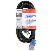 15ft 12/3 SJOOW All-Rubber™ Outdoor Extension Cord