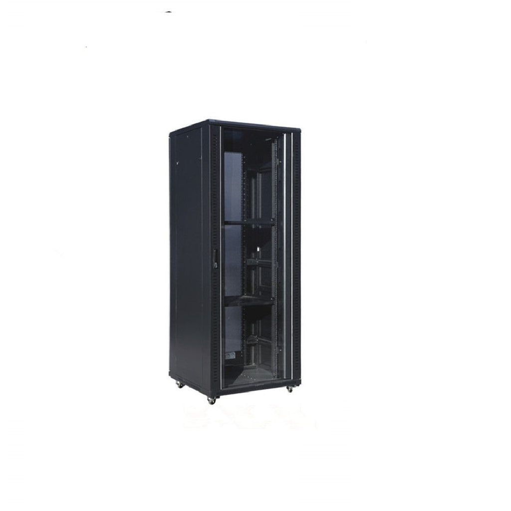 37U Standing Server Rack w/Tempered Glass Door