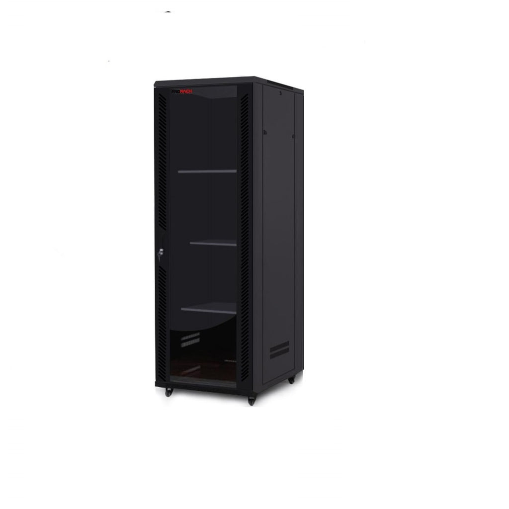 42U Standing Server Rack w/Tempered Glass Door