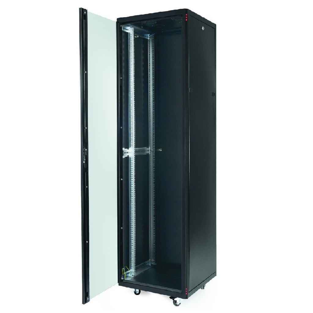 47U Standing Server Rack w/Tempered Glass Door