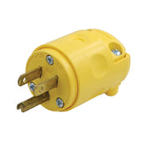 Yellow NEMA 5-15P Replacement Plug