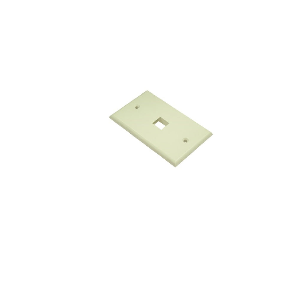 Wallplate 1 port Ivory