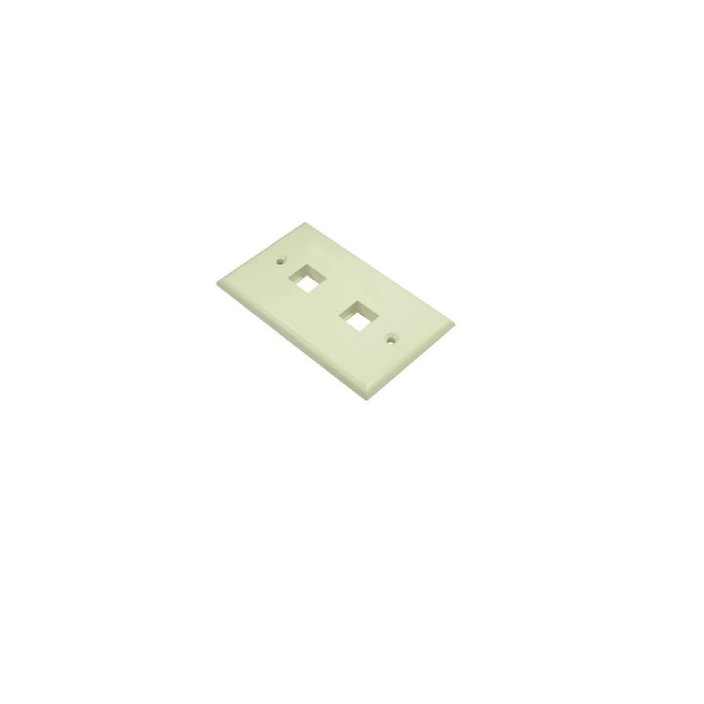 Wallplate 2 port Ivory