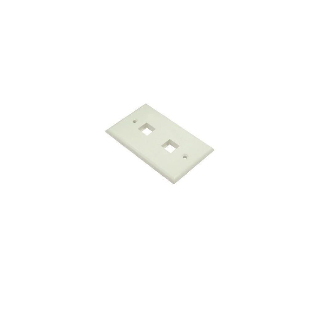Wallplate 2 port White