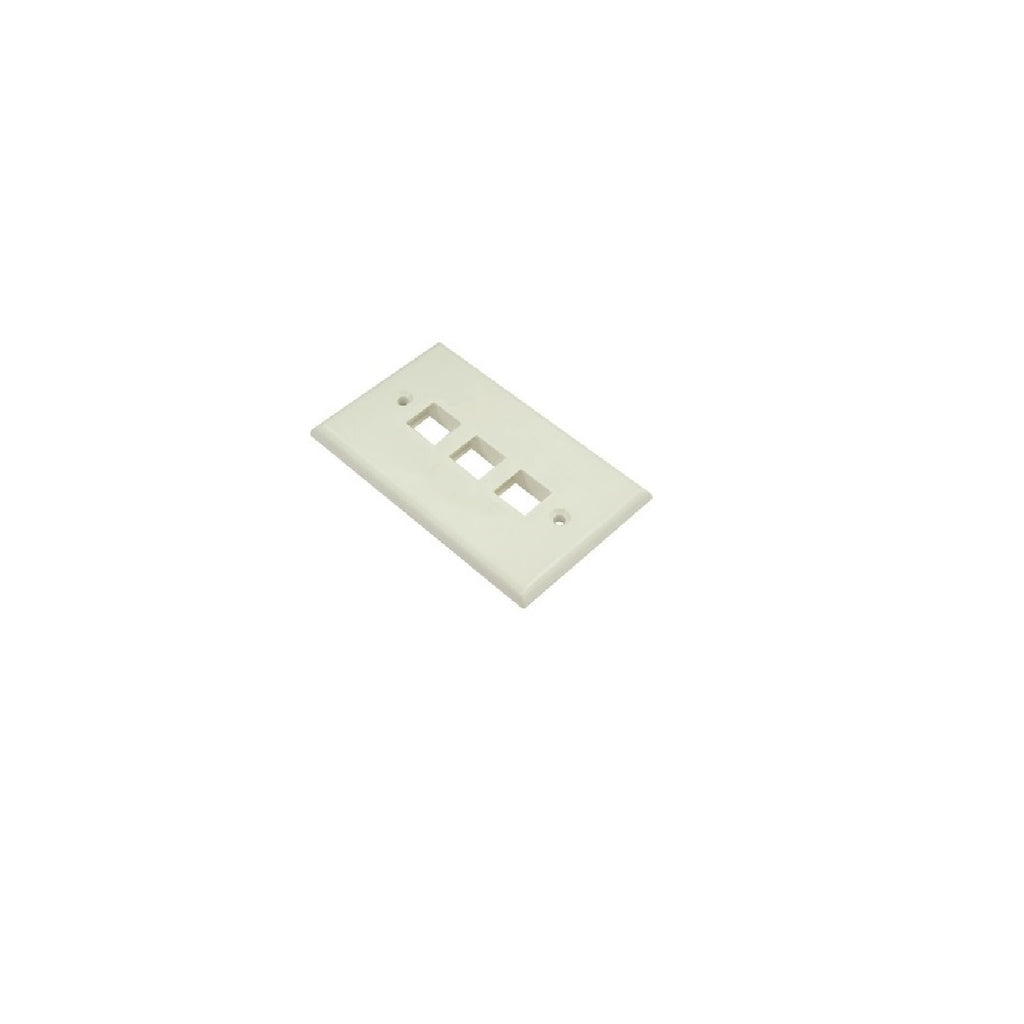 Wallplate 3 port White