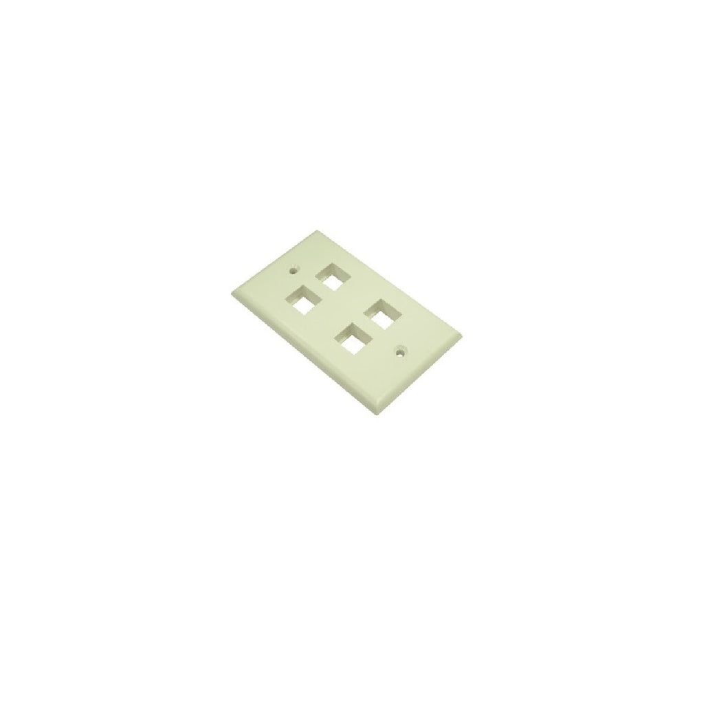 Wallplate 4 port Ivory