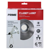 60 Watt Clamp Lamp w/6ft Power Cord