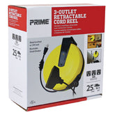 25ft 3-Outlet <br />Retractable Cord Reel