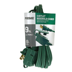 9ft 16/2 SPT-2 3-Outlet Holiday Extension Cord