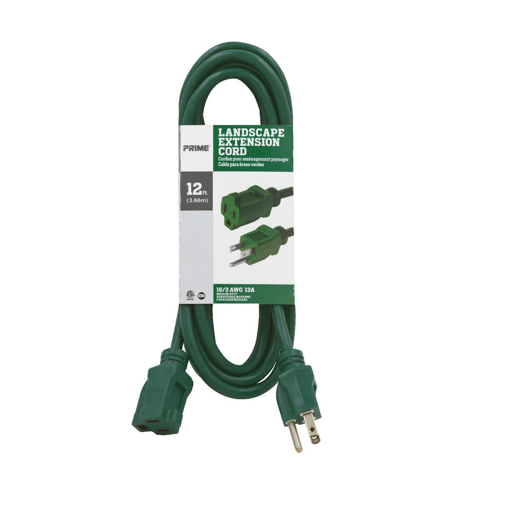 12ft 16/3 SJTW <br />Landscape Extension Cord