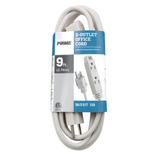 9ft 16/3 SJT 3-Outlet Office Extension Cord