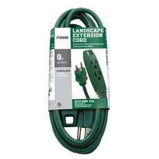 9ft 16/3 SJTW 3-Outlet Outdoor Extension Cord