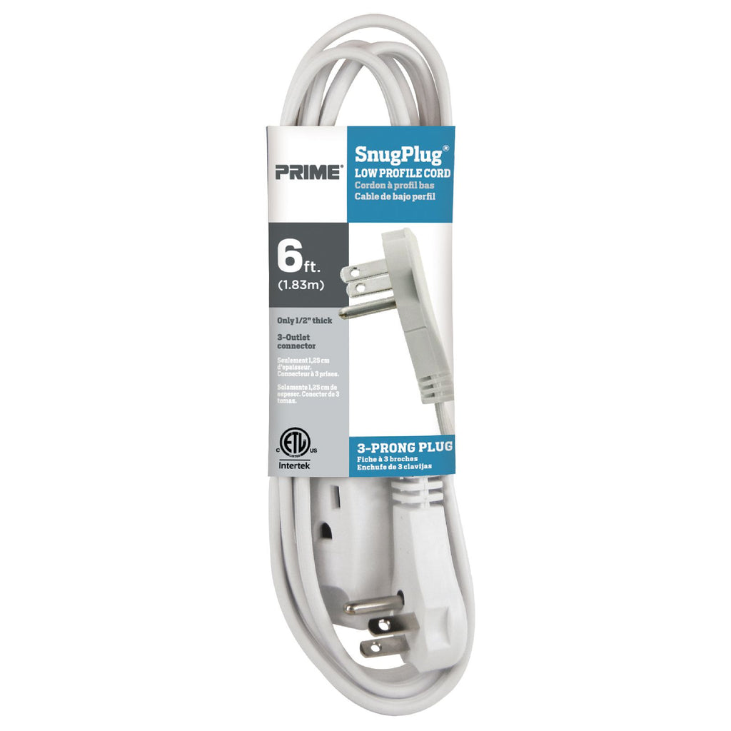 6ft 16/3 SPT-2 SnugPlug&reg; <br />3-Outlet  Household Extension Cord
