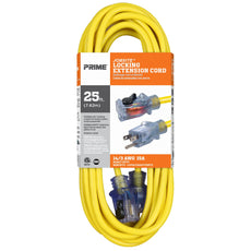 25ft 14/3 SJTW Jobsite® <br />Outdoor Extension Cord <br />w/Locking & Lighted Connector