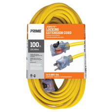 100ft 14/3 SJTW Jobsite® <br />Outdoor Extension Cord <br />w/Locking & Lighted Connector