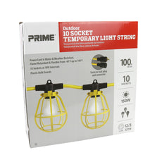 100ft 12/3 SJTW 10-Bulb <br />Twist-to-Lock Light String