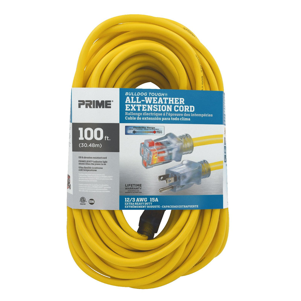 100ft 12/3 SJTOW <br />Bulldog Tough&reg; <br /> Oil Resistant Extension Cord