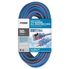 50ft 12/3 SJEOW <br />Arctic Blue™ All-Weather <br />Locking Extension Cord