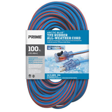 100ft 12/3 SJEOW <br />Arctic Blue™ All-Weather <br />Locking Extension Cord