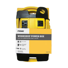 8-Outlet Metal Workshop Power Box w/6ft Cord