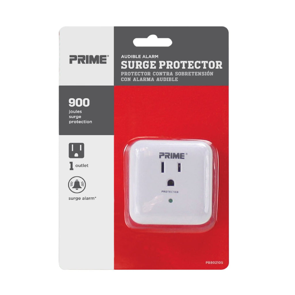 1-Outlet 900 Joule Surge Tap<br />w/ End-of-Service Alarm