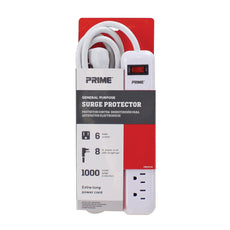 6-Outlet 1000 Joule <br />Surge Protector w/8ft Cord