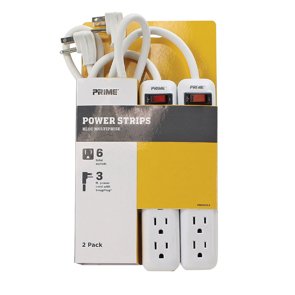 2PK 6-Outlet Power Strips