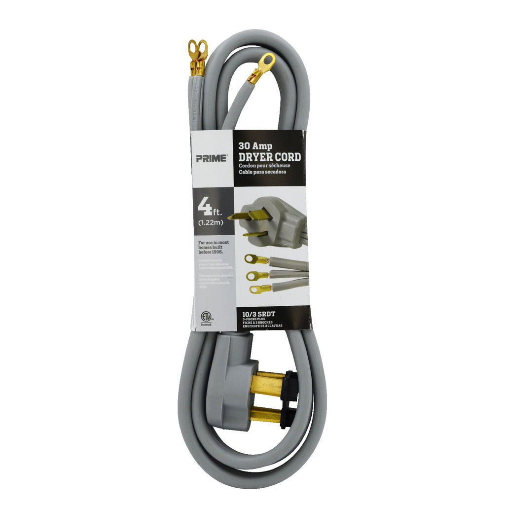 4ft 10/3 SRDT <br />30 Amp Dryer Cord
