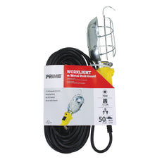 75 Watt Metal Guard Worklight w/50ft Cord
