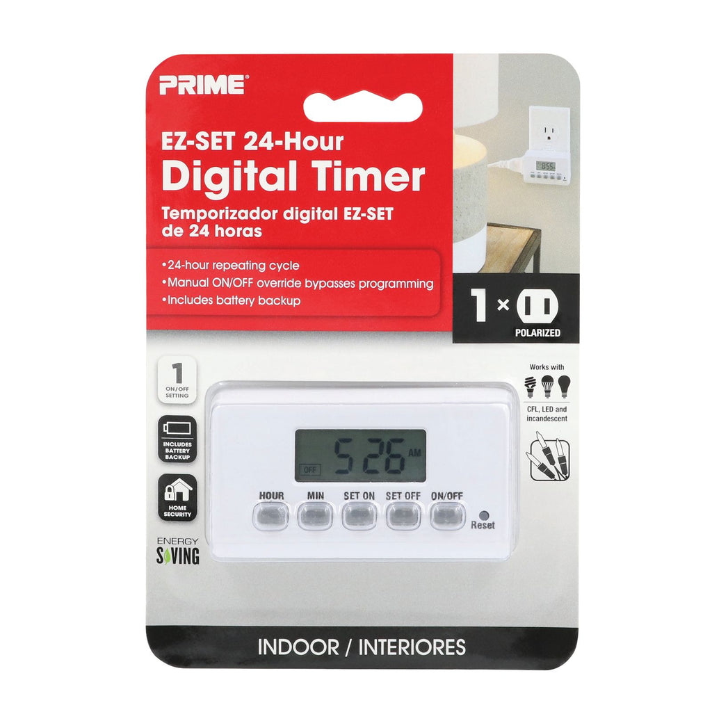1-Outlet Indoor Digital 24hr Timer