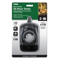 2-Outlet Outdoor 24hr Electromechanical Timer
