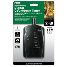 2-Outlet Outdoor LED Countdown Timer